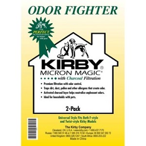 Kirby Vacuum Odor Fighter Filter Bags 2 Pack OEM # 202816